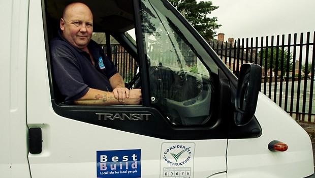 Tony Spooner, driver for BESTBuild, Nottingham